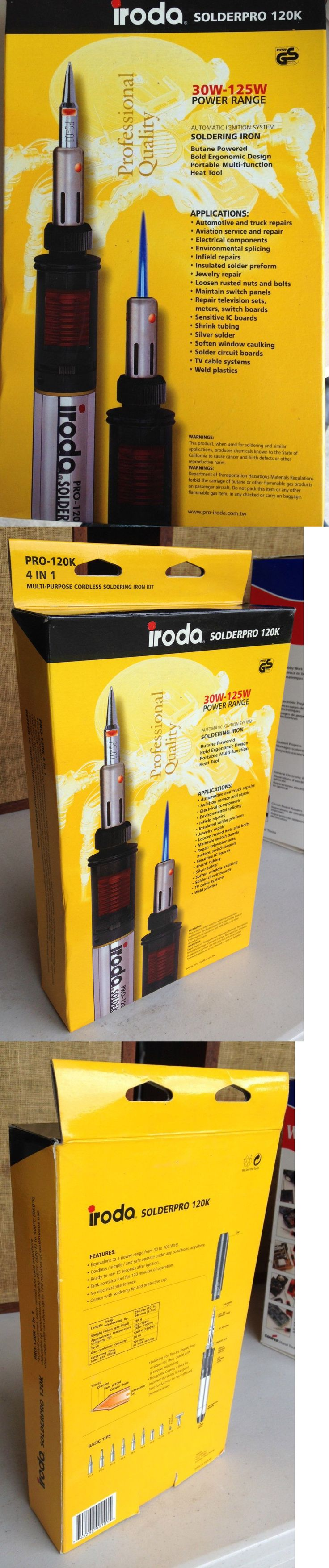 Welding and Soldering Tools 46413: Iroda Solderpro 120K Butane Gas 30W-120W Soldering Iron Kit - Never Used! New -> BUY IT NOW ONLY: $60 on eBay!