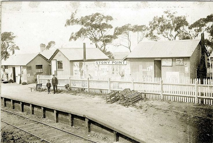 Stony Point Railway Station in Victoria in 1892. 🌹