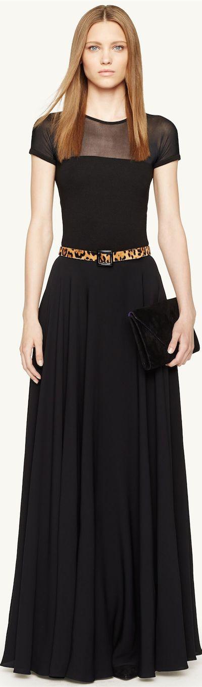 Ralph Lauren - Black Label Silk Hermalina Maxiskirt