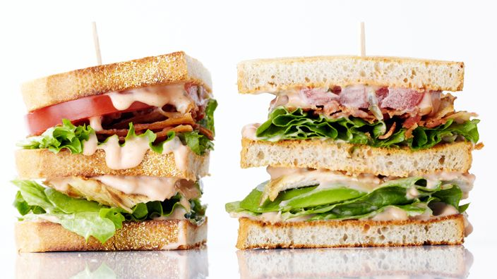 Grilled Chicken Club Sandwich  This Grilled Chicken Club is one mouthwatering reason to get grilling! This sky-high sandwich is stacked with delicious ingredients inside.  Full recipe