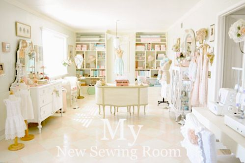 Beautiful sewing room from Shop Ruby Jean!