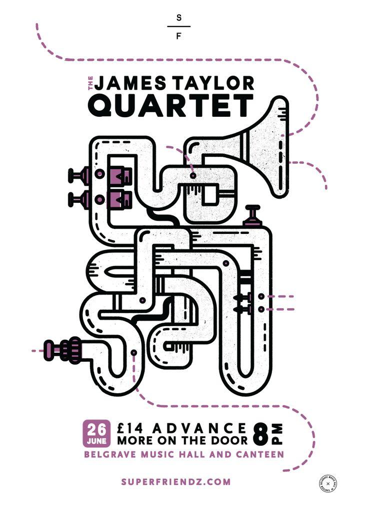 James Taylor Quartet Gig Poster