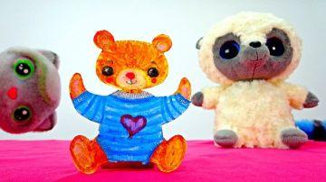Мишка из бумаги! Простые поделки для детей! http://video-kid.com/15276-mishka-iz-bumagi-prostye-podelki-dlja-detei.html  Делать сюрпризы и заводить новых друзей - очень весело и интересно! Сегодня, у кошечки Тоси день рождения, она позвала своих друзей : Юхо и Маргариту, но какой же день рождения без подарков! Маргарита, решила сделать нового друга для, Тоси!  У нее получился чудесный медвежонок , а ты хочешь сделать себе такого друга? Тогда, доставай скорее бумагу и карандаши и повторяй за…