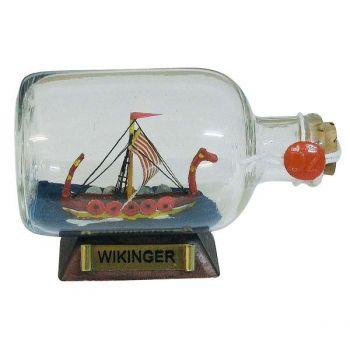 Maritmes Wikingerschiff als Buddelschiff-Flaschenschiff für den maritimen Sammler und als schöne Geschenkidee  KEINE VERSANDKOSTEN INNERHALB DEUTSCHLANDS!!