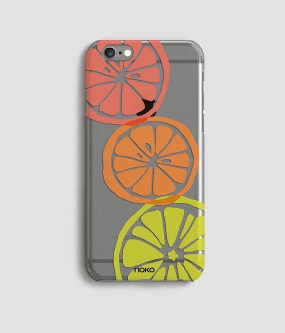 DESCRIPTION: NOKO Transparent Lemon iPhone 6/s & Plus Case  Designed in Italy - Made in the US The case is made of transparent polycarbonate plastic