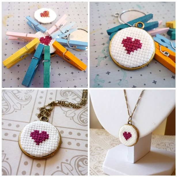 Cross-stitch and awesome glueing
