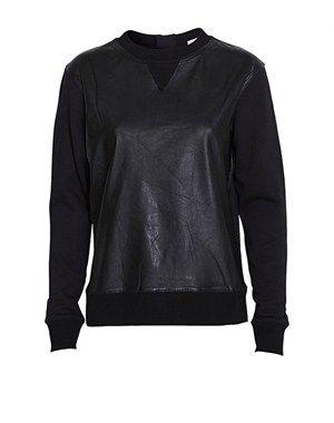MrNatural sweatshirt med læder, FWSS, fra www.youheshe.com, str. L, 1650 kr. på udsalg