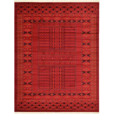 Bloomsbury Market Ivette Red Southwestern Area Rug Rug Size: 8' x 11'