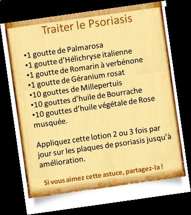 Psoriasis Diet - Découvrez des traitements avec les huiles essentielles. Démangeaisons, plaques rouges, stress, rhumatisme, en finir avec un traitement du psoriasis. REAL PEOPLE. REAL RESULTS 160,000+ Psoriasis Free Customers
