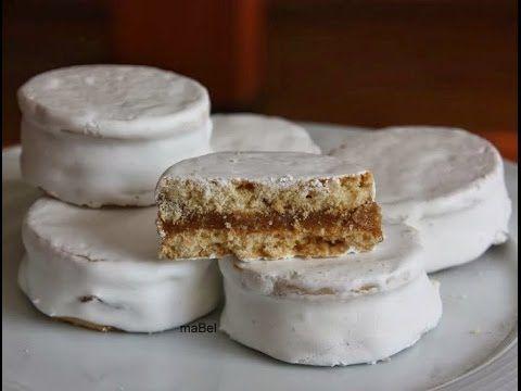 Pasteles de colores: Alfajores blancos de dulce de leche