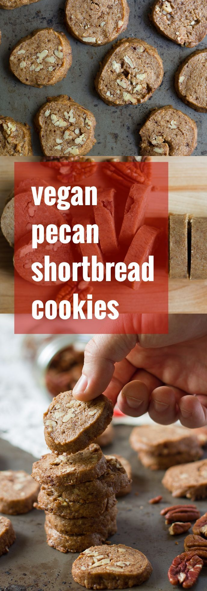 These crave-worthy vegan pecan shortbread cookies are rich, buttery, and loaded with crunchy pecans. You'd never guess they were dairy-free!