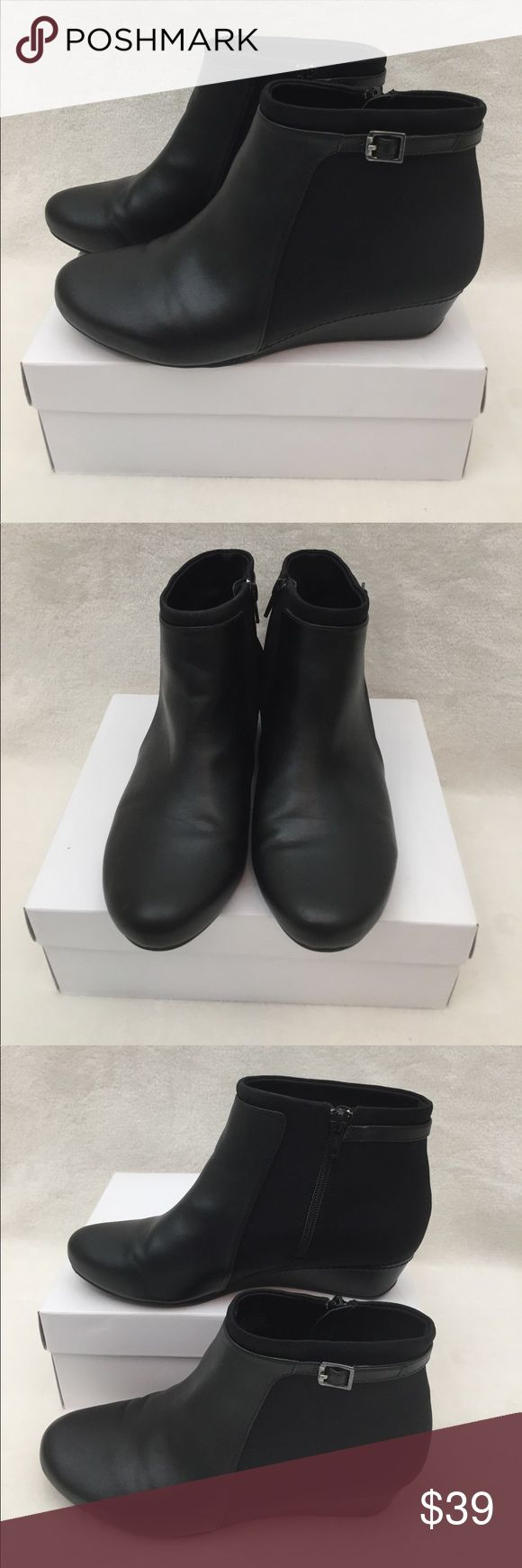 💚Easy Spirit💚 Black woman booties Wore few times! Still in the perfect condition. Very comfortable booties. Ask me questions! Easy Spirit Shoes Ankle Boots & Booties