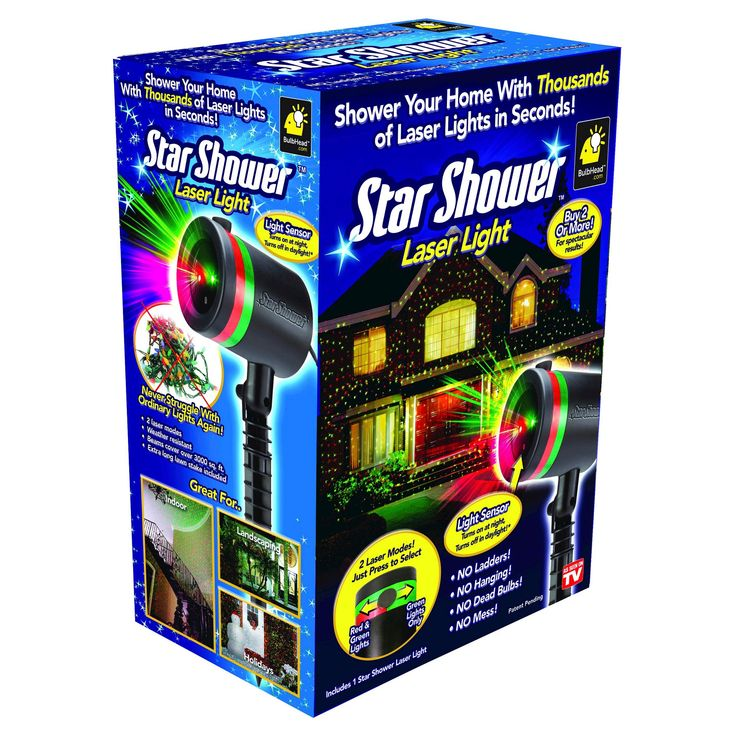 As Seen on TV Star Shower Laser Light Projector Green,