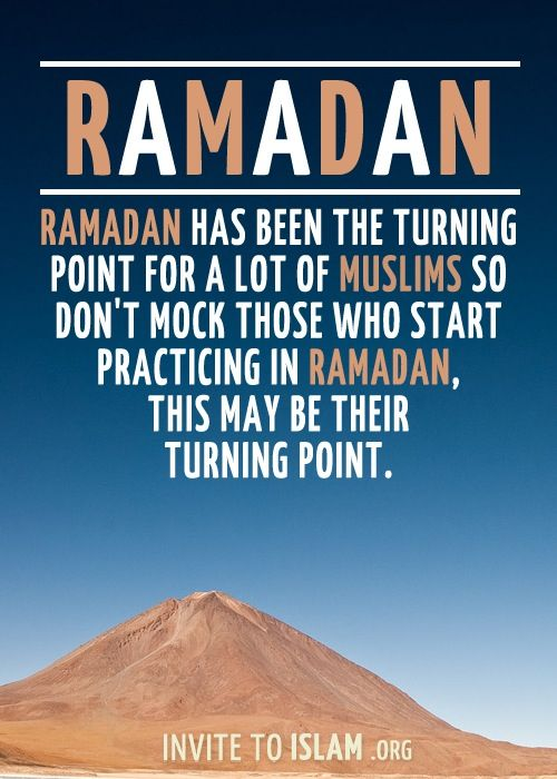 Ramadan can be a turning point.