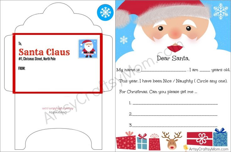 125 best letter to farther christmas images on pinterest free printable letter to santa and envelope for children spiritdancerdesigns