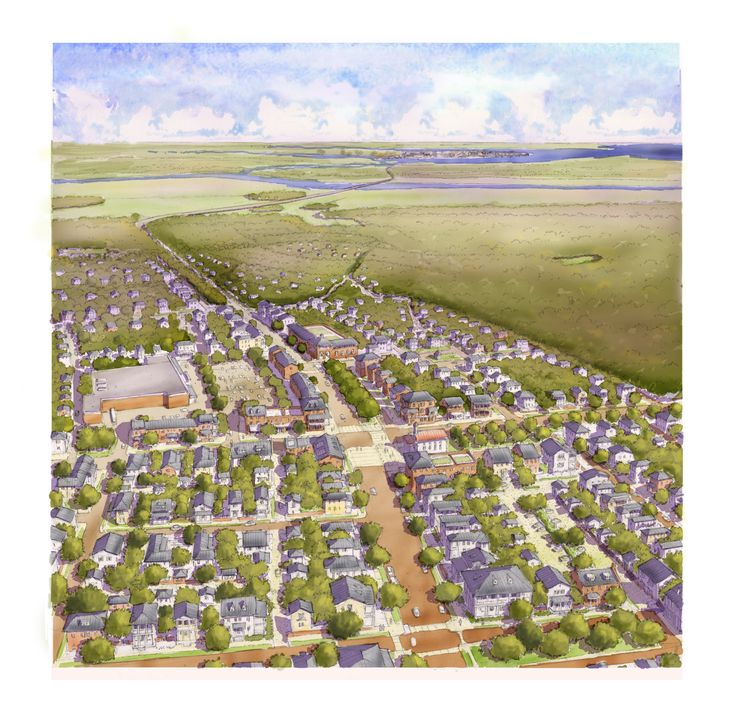 Aerial View Concept Of Rural Community