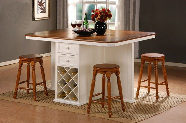 Counter Height Kitchen Table Island