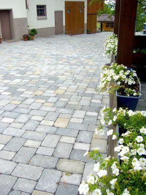 Designer antik pflaster im farbton muschelkalk gartenwege garden front yard landscaping und - Pflaster ideen ...