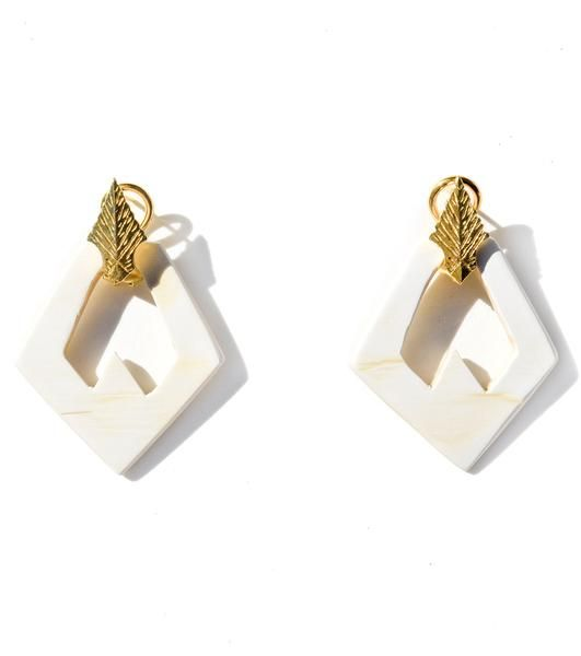 Design Details and Impact Care For Your Akola Hand-carved, ethically sourced Ankole horn pieces designed to clip in with Akola Ram or Leafearrings (sold separa