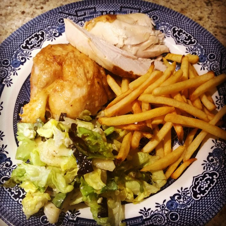 Roasted Chicken, Frites, and Green Salad