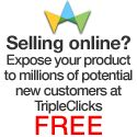 Selling online? Become an E-Commerce Associate (ECA). Simply sign up, upload your products, and start taking orders. TripleClicks retains a nominal amount only when you make a sale. Register YOUR BUSINESS FREE and you have  your Online Store at http://www.sfi4.com/12240620.300/free.