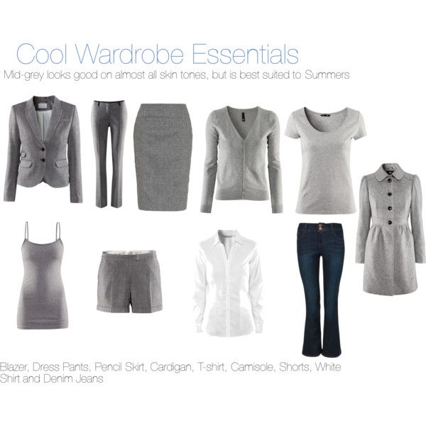 Cool wardrobe essentials mid gray is best in summer and good on most skin tones