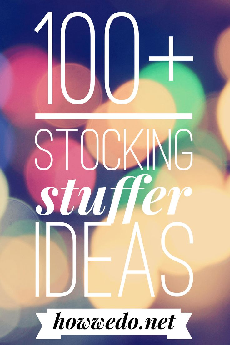 Finding fun, new, and creative ideas to fill your stockings can be tricky. A list of over 100 stocking stuffer ideas to help you with your holiday shopping!