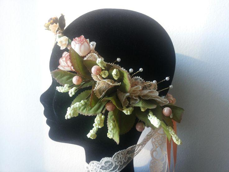 #Preraphaelite #Crown - #Headpiece style#2 by Cristina Biella (www.facebook.com/...) #headdress #elanorlightart