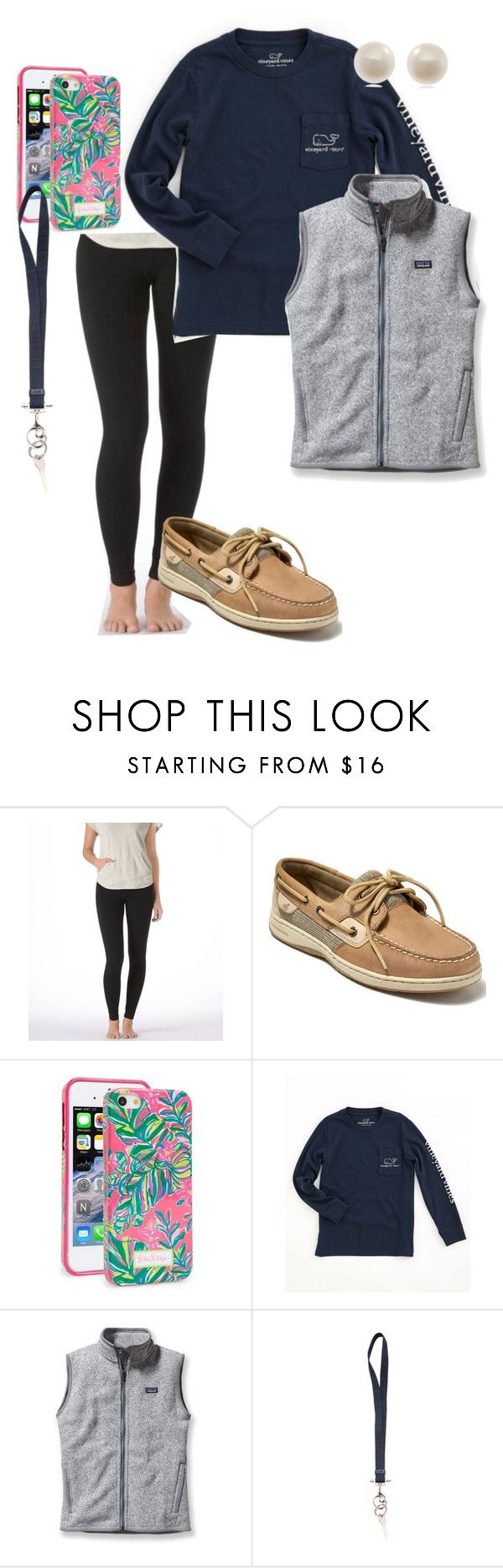 """""""extra preppy"""" by pmargaret ❤ liked on Polyvore featuring Aerie, Sperry, Lilly Pulitzer, Vineyard Vines, Patagonia, Givenchy and Links of London"""