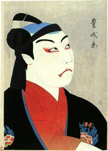 Matsumoto Koshiro VII as Sukeroku  by Yamamura Toyonari, 1920  (published by Watanabe Shozaburo