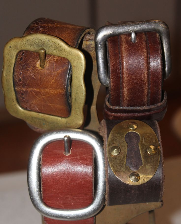 leather cuff bracelets ~made from recycled belts