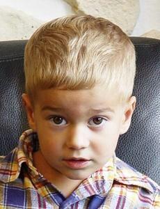 Cute toddler boy hair cut