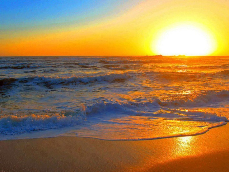 Sunset With Sea Wave Tap To See More Breathtaking Beach: 129 Best Sunset Over Water Images On Pinterest