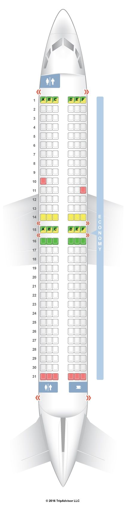 SeatGuru Seat Map Norwegian Boeing 737-800 (738) - SeatGuru