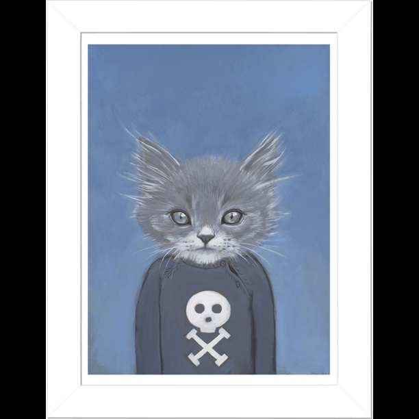 A Cat in Clothes, Henry: Cat Art, Heathermattoon, Illustration, Fine Art, Cats In Clothes, Heather Mattoon, Kitty, Painting, Animal