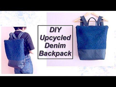 (13) Refashion DIY Upcycled Denim Backpack // リュックサックの作り方ㅣmadebyaya - YouTube