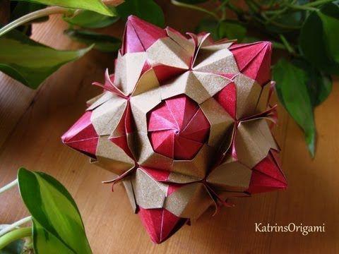 ▶ Origami ♥ Paloma ♥ Kusudama - YouTube