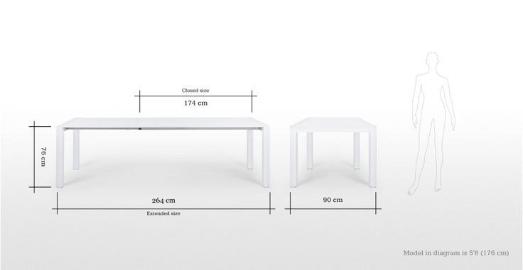 Bramante White Gloss Extending Dining Table | made.com