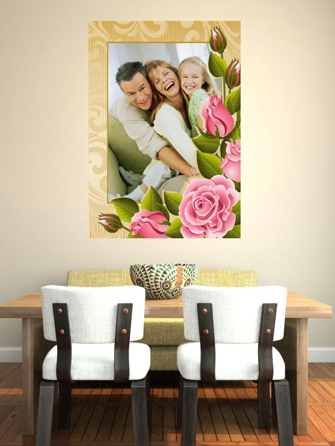 """smartwalling, Rose Photo Frame """"Happy Snaps"""" MOVABLE Wall Decals, $9.99 (http://www.wholesaleprinters.com.au/rose-photo-frame-happy-snaps-wall-decals)"""