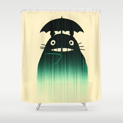 Waiting For You In The Rain Shower Curtain