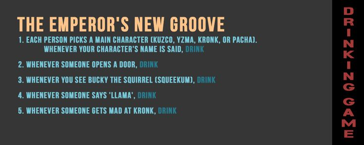 DRINKING GAME: The Emperor's New Groove