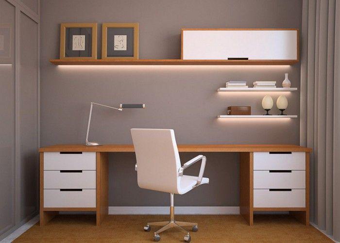 Рабочее место в стиле модерн, домашний офис, home office
