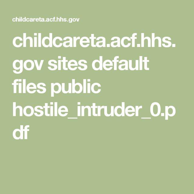 childcareta.acf.hhs.gov sites default files public hostile_intruder_0.pdf