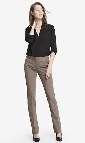 Best 25  Women's dress pants ideas on Pinterest | Women's black ...
