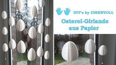 Ideenvoll: Osterei-Girlande aus Papier