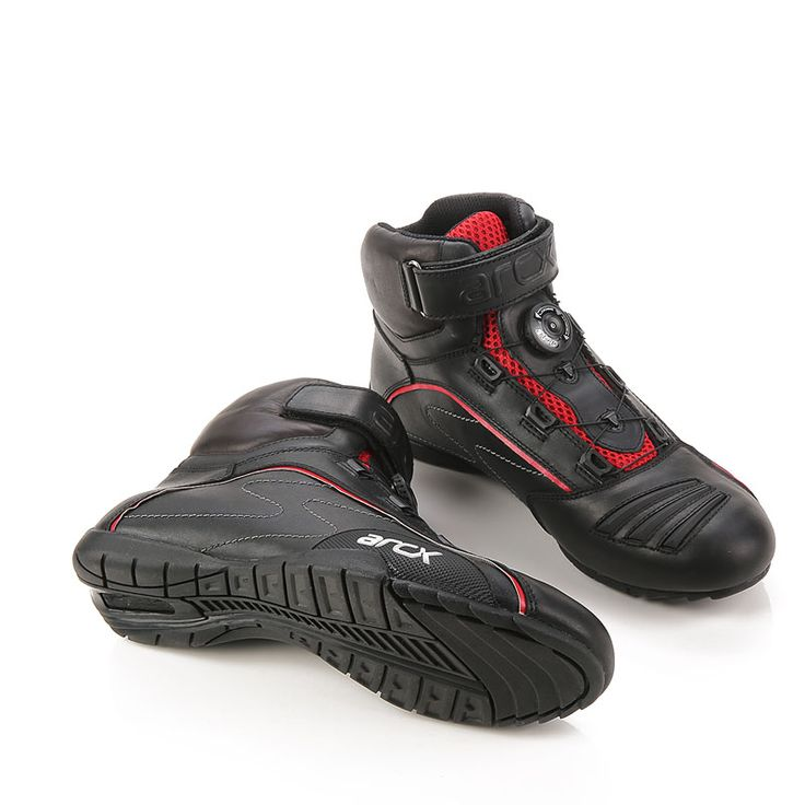 Cow Leather Motorcycle Racing Shoes Riding Boots with Tuning Knob Laces ARCX