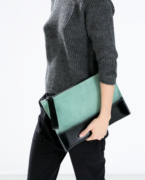GRADUATED COLOR LEATHER CLUTCH BAG-Bags-Woman-SHOES & BAGS | ZARA Croatia