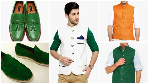 Independence Day Tri Color Dress with Shoes for Men
