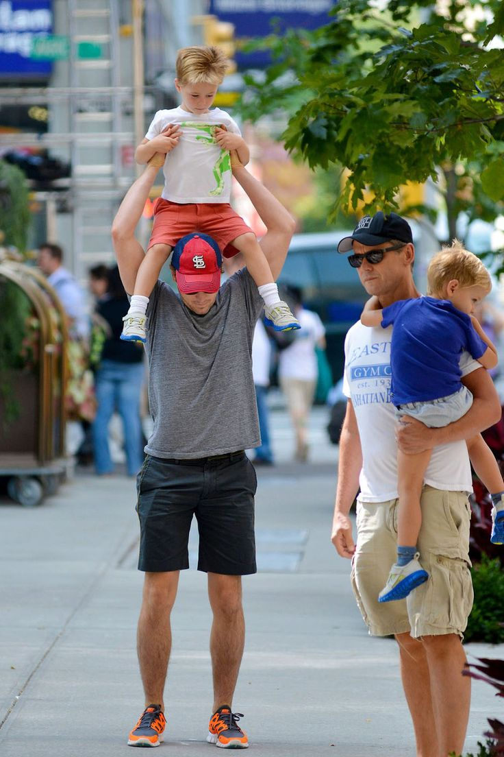 Matt Bomer With The Family In New York City