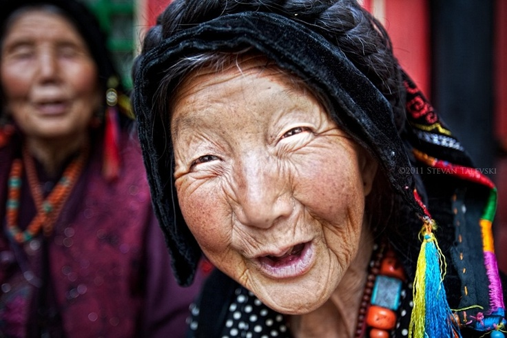 Beauty! Laughter and smiles have marked this woman's life. Oh what joy.